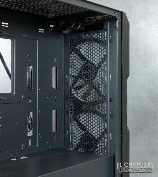 Antec NX800 - Interno - Lato anteriore senza filtro