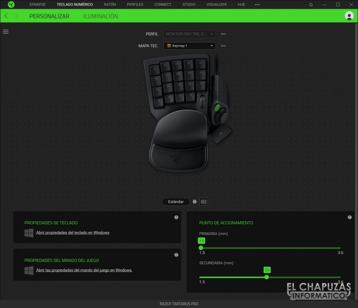 Razer Tartarus Pro - Software 1