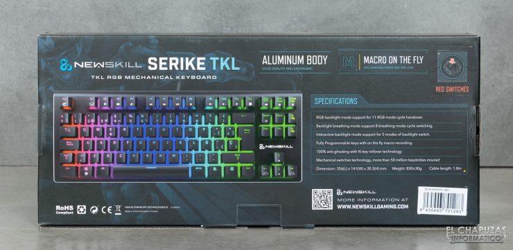 Newskill Serike TKL - Imballaggio posteriore