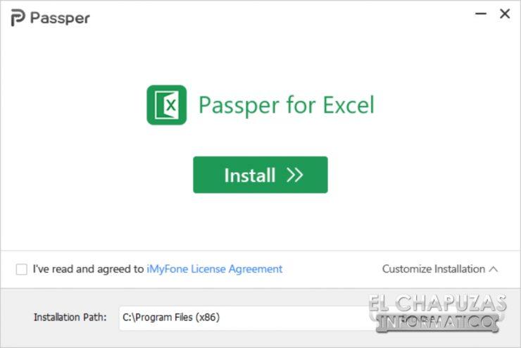 Passper per Excel 2