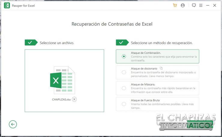 Passper per Excel 6