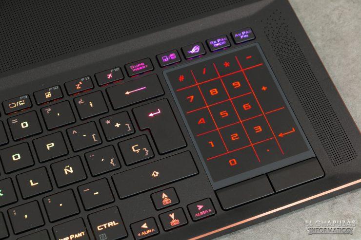 Asus ROG Zephyrus S GX701GXR - Touchpad - Tastierino numerico