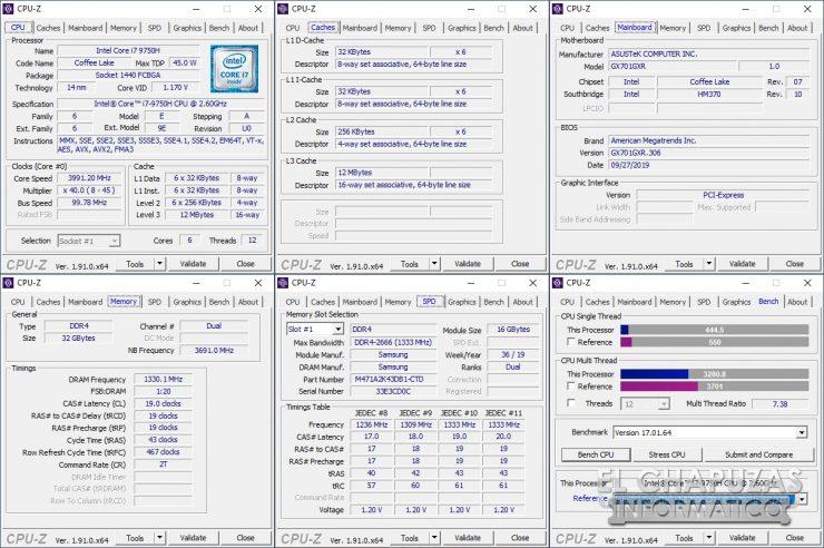 Asus ROG Zephyrus S GX701GXR - CPU-Z