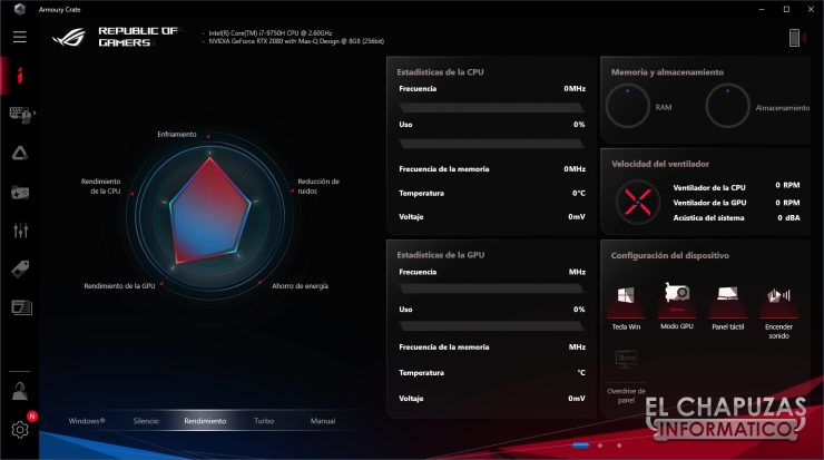 Asus ROG Zephyrus S GX701GXR - Armory Crate