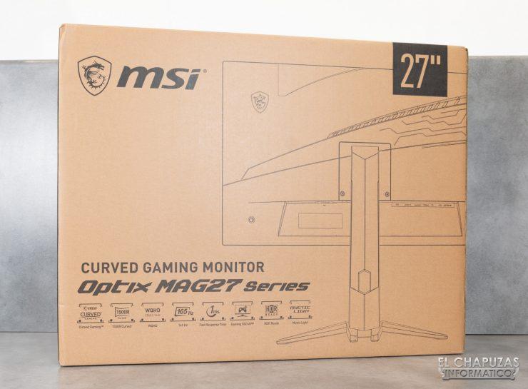 MSI Optix MAG272CQR - Imballaggio esterno