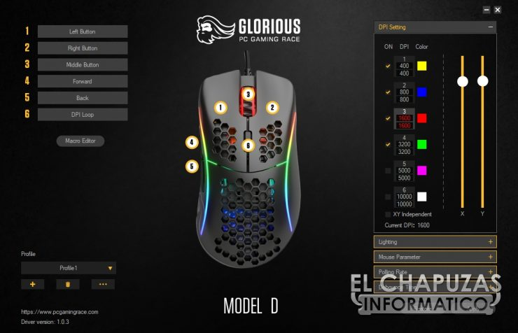 Glorioso PC Gaming Race Modello D - Software 1