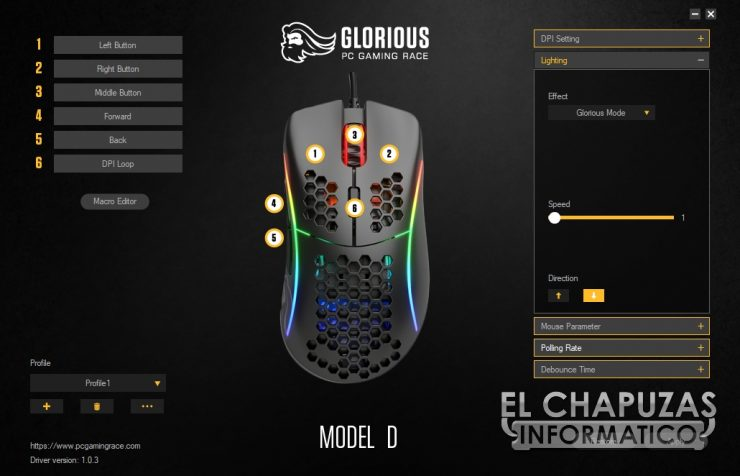 Glorioso PC Gaming Race Modello D - Software 2