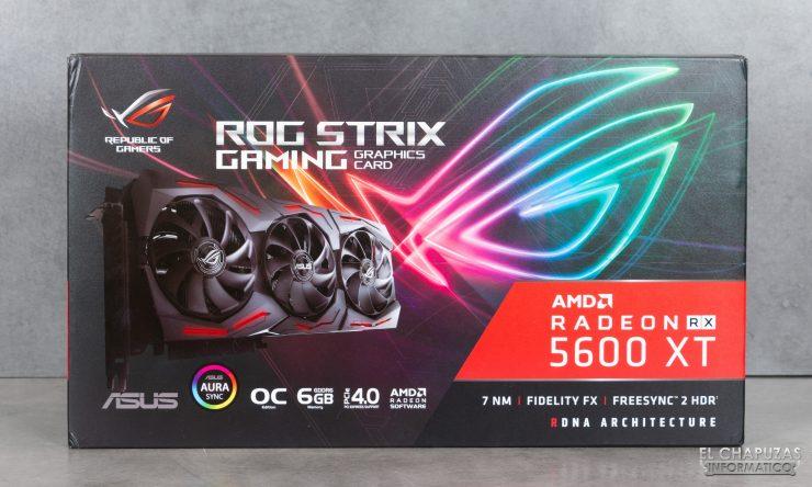 Asus ROG Strix Radeon RX 5600 XT OC - Imballaggio esterno frontale