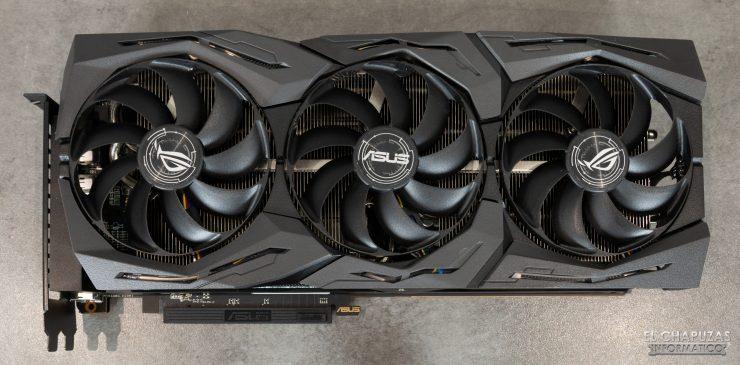 Asus ROG Strix Radeon RX 5600 XT OC - Vista dall'alto