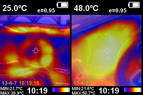 Asus ROG Strix Radeon RX 5600 XT OC - Telecamera termica