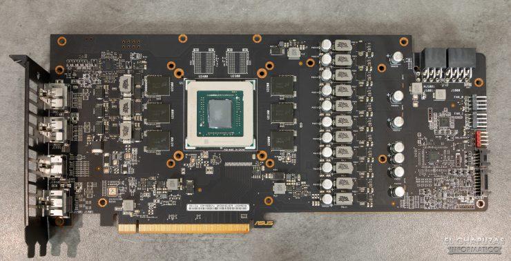 Asus ROG Strix Radeon RX 5600 XT OC - PCB frontale
