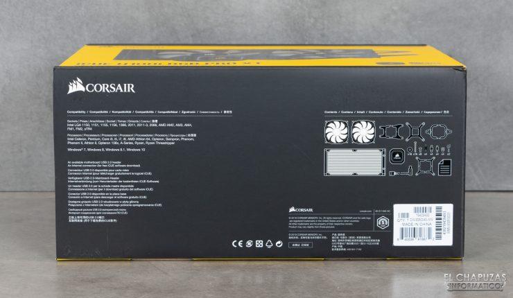 Corsair iCUE H100i RGB Pro XT - Imballaggio esterno 3