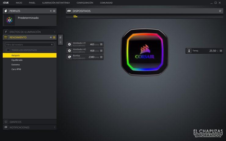 Corsair iCUE H100i RGB Pro XT - Software 3