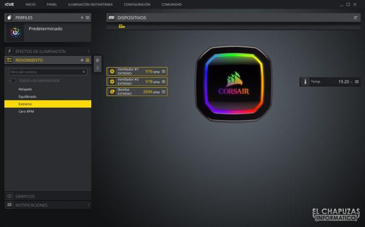 Corsair iCUE H100i RGB Pro XT - Software 2