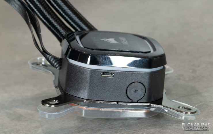 Corsair iCUE H100i RGB Pro XT - Connettore Micro-USB