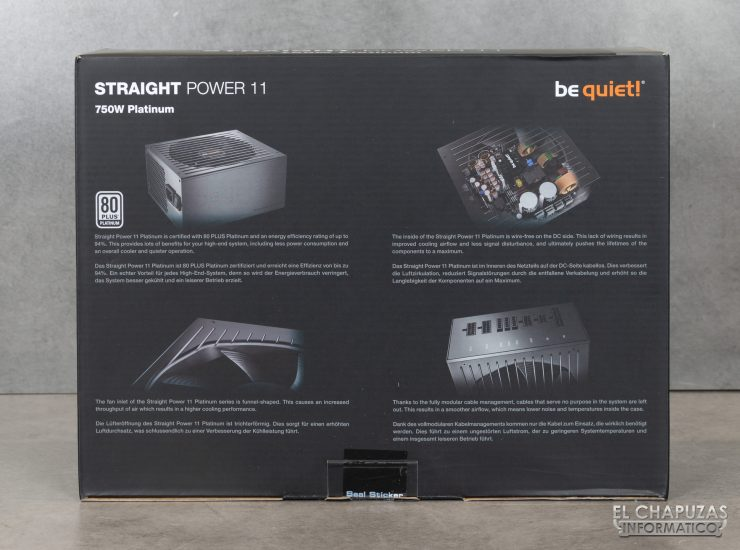 Be quiet! Straight Power 11 Platinum - Packaging 4