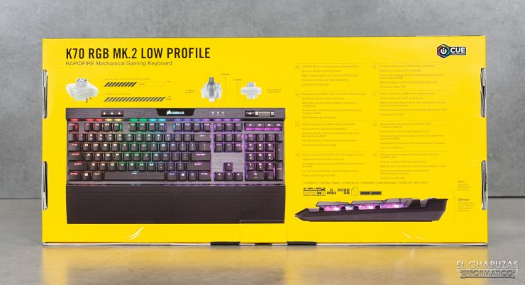 Corsair K70 RGB MK.2 Low Profile - Embalaje 2
