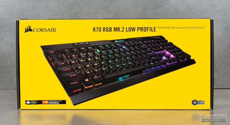 Corsair K70 RGB MK.2 Low Profile - Embalaje 1