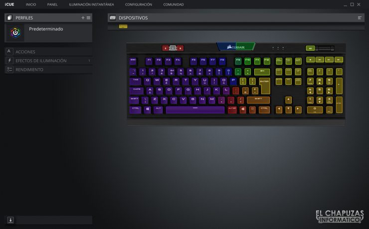 Corsair K70 RGB MK.2 Low Profile - Software 1