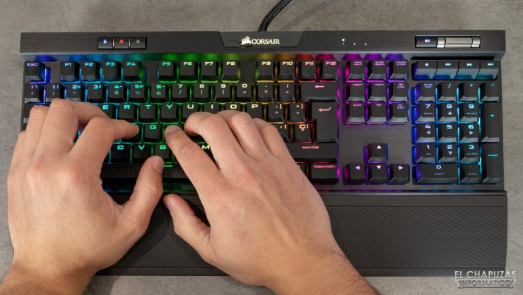Corsair K70 RGB MK.2 Low Profile - Pruebas
