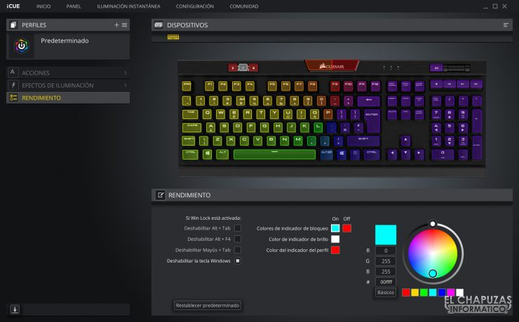 Corsair K70 RGB MK.2 Low Profile - Software 4