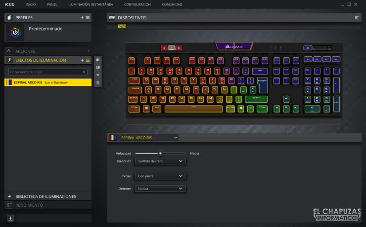 Corsair K70 RGB MK.2 Low Profile - Software 3