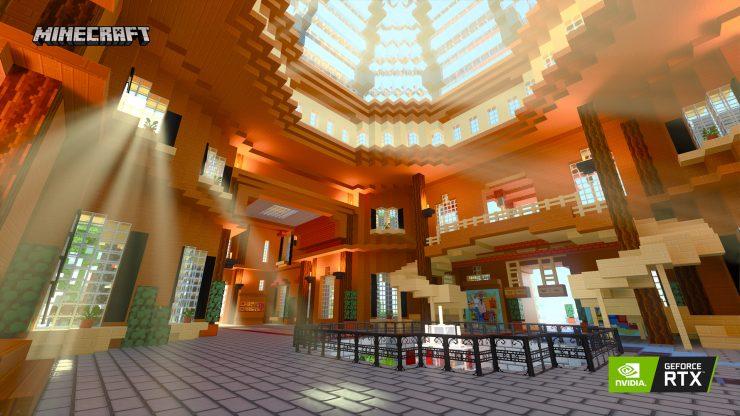 Immaginazione Isola di Minecraft Nvidia RTX 740x416 2