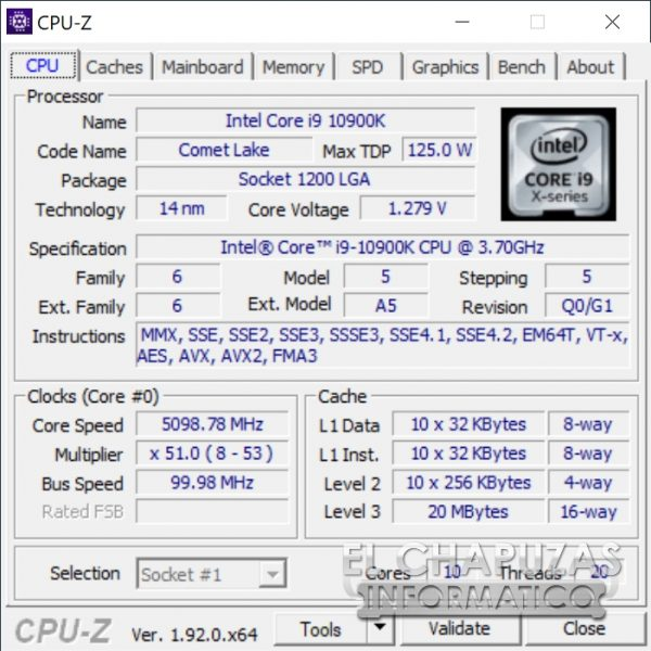 Intel Core i9-10900K - OC
