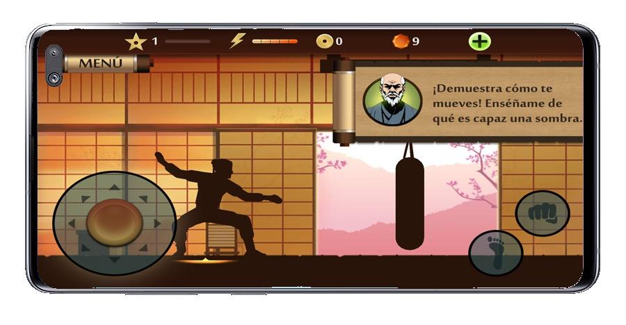 Interfaz del juego Shadow Fight 2