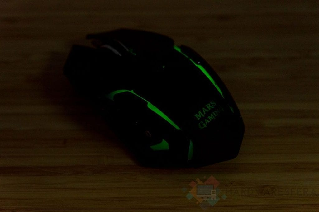 Mouse wireless MarsGaming MMw RGB rgb posteriore