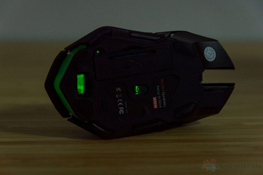 Inhalambrico Mouse MarsGaming MMw Fondo illuminato RGB