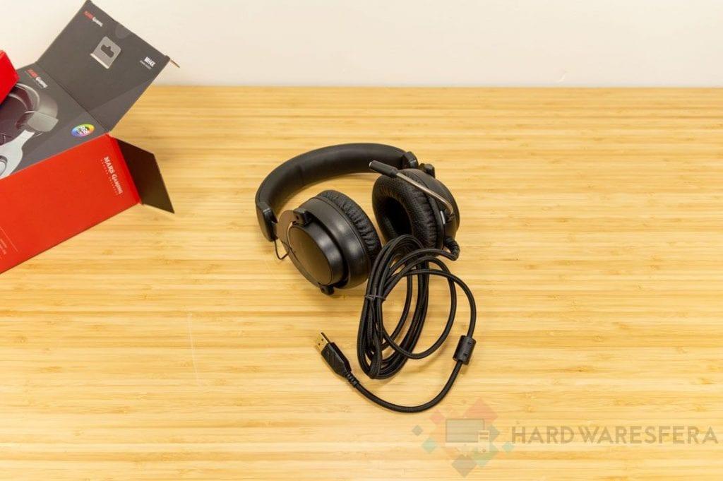 MarsGaming MH4X unboxing auricolare USB