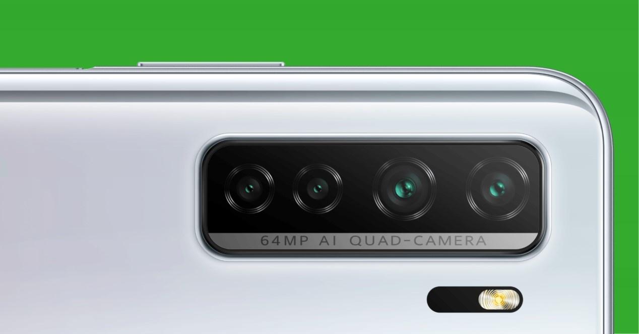 p40 lite 5g e sfondo verde
