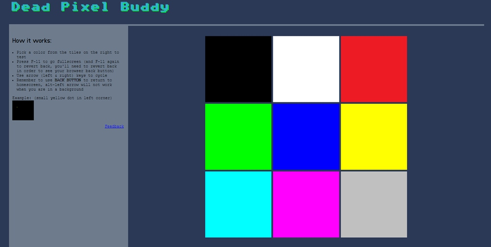 riparare i pixel morti