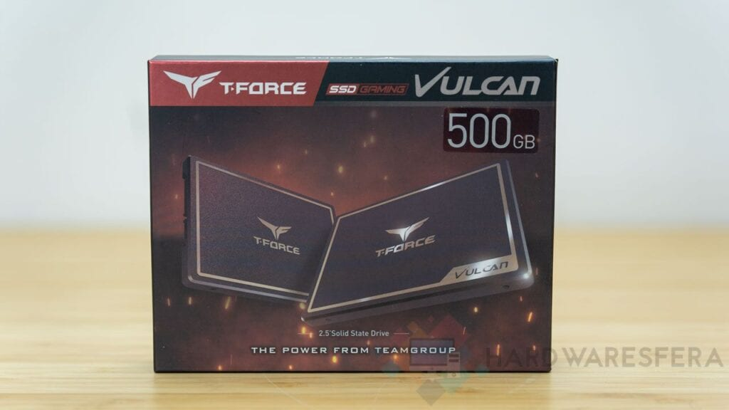 Scatola frontale T-FORCE-SSD-GAMING-VULCAN-500GB