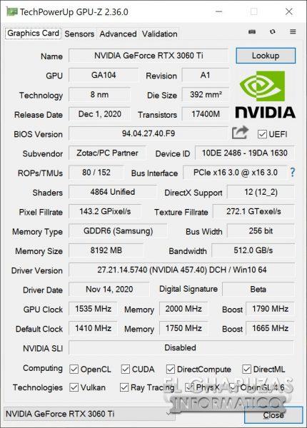 Zotac GeForce RTX 3060 Ti Twin Edge 23 430x600 90