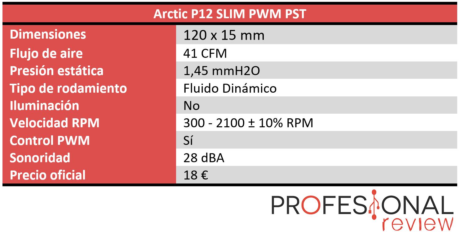 Caratteristiche Arctic P12 SLIM PWM PST