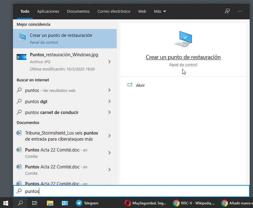 Ripristino configurazione di sistema in Windows 10