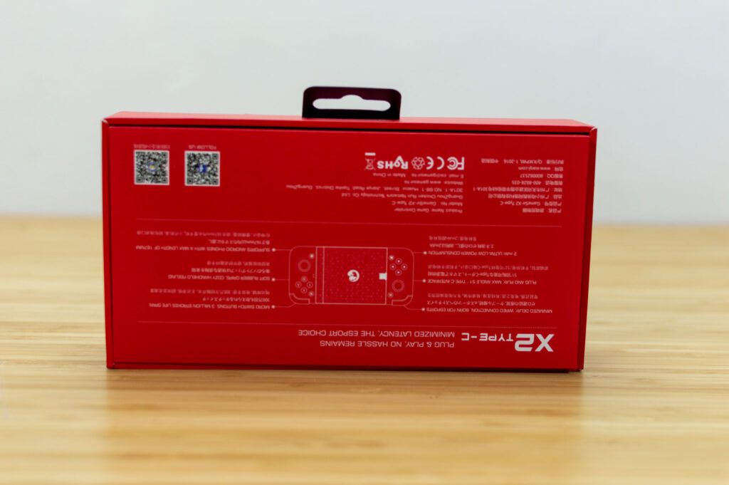 controller gamesir x2 type-c scatola posteriore