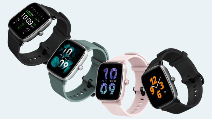 I mini orologi Amazfit GTS sono disponibili in colori attraenti.