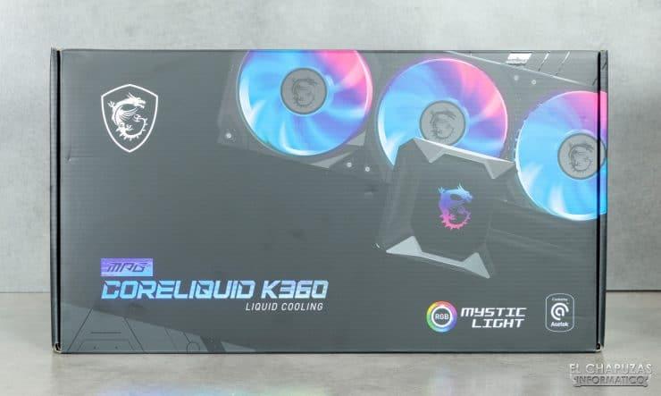 MSI MPG CoreLiquid K360 - Confezione frontale
