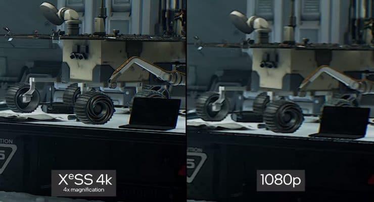 ntel XeSS - 4K contro 1080p