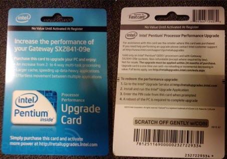 Scheda di aggiornamento della CPU Intel Pentium