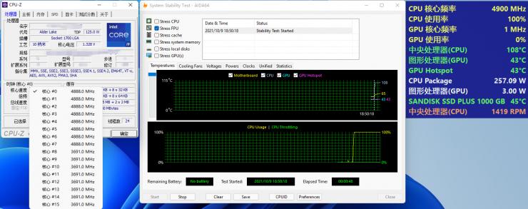 Consumo energetico Intel Core i9-12900K