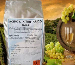 acido tartarico per uso enologico