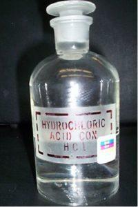 Proprietà dell'acido cloridrico